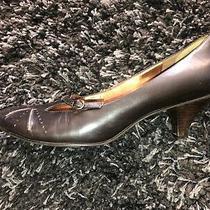 Womens Nine West Jamonica Dark Brown Leather Pumps High Heels Size 9.5  Photo