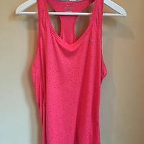 Women's Nwot Nike Dri Fit Workout Top Tank Running Large L Pink Printed Photo
