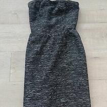 Womens Nwt Gap Strapless Twead Black/white Dress - Size 4 Photo