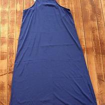 Women's Nwt Honey Punch Medium Dress Lulu's Halter Full Tank Blue Long Large Photo