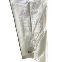 Womens Nwt Rare Puma White Cotton/elastane Capri Pants - Size S Photo
