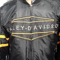Women's Nylon Quilted Harley Davidson Motorcycle Jacket Photo