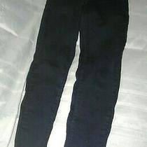 Women's Old Navy Rockstar Skinny Low Rise Jeans Size 8 Long/tall Dark Wash Blue Photo