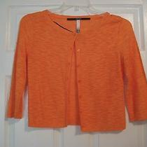 Women's Orange Cardigan Small  Photo