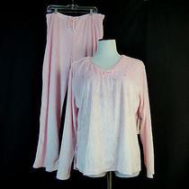 Women's Pajama - Classic Elements - Size 2xl - Solid Pink 2pc Sleepwear Photo