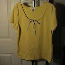 Women's Pajama Top Tommy Hilfiger Sleepwear Yellow Large Cotton Blend (Bxs) Photo