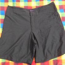 Women's Patagonia Black Nylon Hiking Outdoor Shorts Flat Front 14 Photo