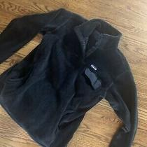 Women's Patagonia Fleece Pullover Jacket Size Xl Black Snap-T Pocket Photo