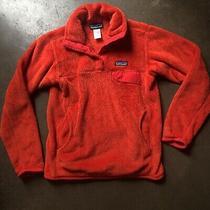 Women's Patagonia Re-Tool Snap-T Deep Pile Orange Fleece Pullover Jacket Sz Xs Photo