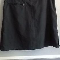 Women's Patagonia Skort (Skirt / Shorts in One)  a-Line Black Size 6 Hike Bike  Photo