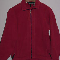 Women's Patagonia Synchilla Zippered Fleece Jacket  Heavyweight Burgandy Med Euc Photo