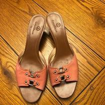 Women's Peach Cole Haan Kitten Heels Size 9.5aa Preowned Photo