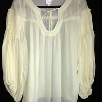Women's Peasant Artist Silk Blouse by Parker Size Medium Free Shipping Us Only Photo