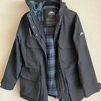 Womens Penfield Flannel-Lined Field Jacket in Black Size Xs Photo