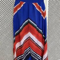 Women's Phase Eight Jasmin Chevron Lined Maxi Skirt Size 10 Excellent Condition Photo