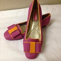 Women's Pink and Orange Isaac Mizrahi Flats  Size 6 New Photo