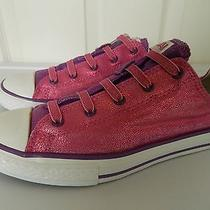 Women's Pink and Purple Converse All Stars Low Tops - Size 6 Photo