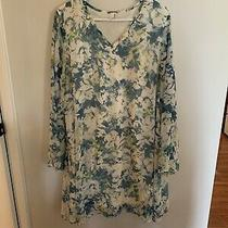 Womens Pink Blush Blue and White Shift Dress Size Xl. Euc Photo