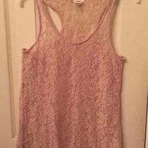 Women's Pink Fossil Lace Tank Size Xs Photo