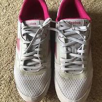 Womens Pink & Gray Reebok Real Flex Sneakers Shoes Size 10 No Box Photo