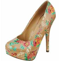 Women's Platform 5.5 Inch Stiletto High Heel Pumps Shoes Patent Floral Print Photo