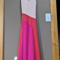 Women's Pleated Dress - Cushnie for Target Pink/red Blush Combo Size 4. Photo