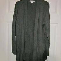 Women's Plus Liz Claiborne Gray Open Front Cardigan Sweater Size 1x Nwt  114 Photo