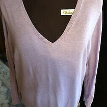 Womens Plus-Size 4x Old Navy Lilac v Neck Light Weight Sweater  Photo