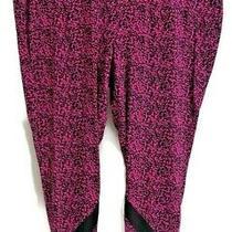 Women's Plus Size Lane Bryant Livi Athletic Leggings Pink and Black Size 26/28 Photo