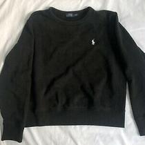 Women's Polo Ralph Lauren Crew Sweatshirt Sweater Black Top Size Large Photo