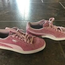 Womens Puma Match Lo Elemental Suede  Sneaker Size 8 Pink Fuzzy Shoes Photo