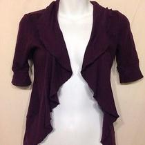 Women's Purple Express Knit Cardigan-Size Xs Photo