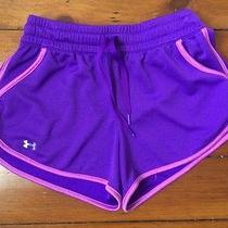 Women's Purple Under Armour Heat Gear Athletic Shorts Size Xs Photo