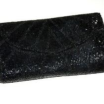 Women's Purse Hand Bag Flap Small Black Mosaic Shining 60s Style Photo