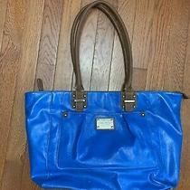 Womens Purse Handbag Nine West Blue Brown Pre-Owned Photo