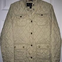 Women's Quilted Fitted Microfiber Barbour Jacket Size 4 Photo