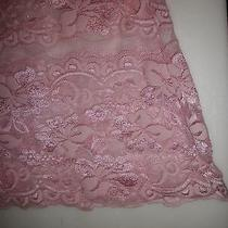 Women's Rampage Stretch Lace Lingere Chemise Nightie Pink -Medium  Photo