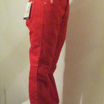 Women's Red Guess Jeans Bootleg Low Waist Nwt Sexy Hot Size 30 W 29 Inseam Photo