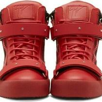 Women's Red High Top Sneakers Size 39 Giuseppe Zanotti Shoes Chic Lace Zipper  Photo