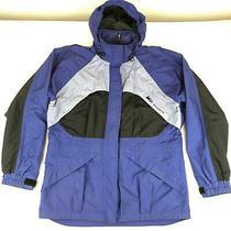 Women's Rei Elements Purple & Black Hooded Jacket Nylon Size Medium Photo