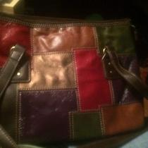 Women's Relic by Fossil Brown Patchwork Purse . Photo