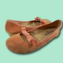 Women's Repetto Blush Pink Suede Leather Round Toe Bow Flats Sz 37.5 / Us 7 Photo