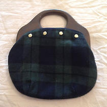 Women's Reversible Handbag Hobo Style Wood Handles  Size Medium Photo