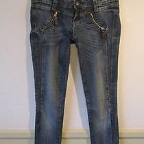 Women's Rock for Express Blue Skinny Denim Jeans Size 0 Photo