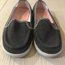 Women's Roxy Gray Canvas Flats Casual Slip on Shoes Size 8 Photo