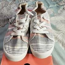Women's Roxy Surf Sneaker Shoes Beige Stripe Bayshore Size 8.5 Photo