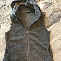 Womens S Express Fleece Hoodie Vest Gray Euc Photo