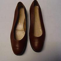 Women's Salvatore Ferragamo Brown Leather Flats Sz 8.5 Photo