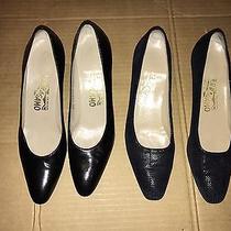 Women's Salvatore Ferragamo Heels Lot of 2 Size 9 Made in Italy Photo