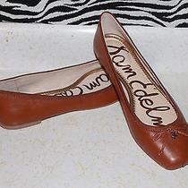 Women's Sam Edelman Dominica Saddle Leather Slip on Ballet Flats Size 8.5m Photo